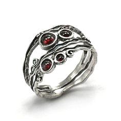 Garnet Ring Ruth Doron Designs