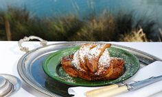 French Toast with Bananas in Verjuice
