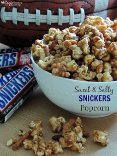 This Sweet & Salty SNICKERS Popcorn is easy to make and is the perfect treat for the big game! #Chocolate4TheWin #shop
