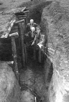 """tuttieroi: """"Russian trench in Galizia, WWI """""""
