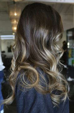 """brunette inspiration // I'd use a balayage technique and """"wonder years"""" placement (like when you were a kid and all the right hairs were blonde)"""