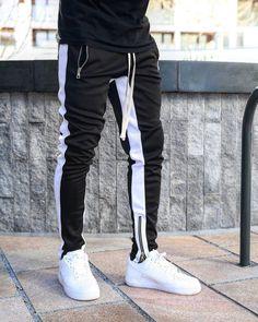 Mens Skinny Sweatpants, Mens Jogger Pants, Look Man, Tracksuit Bottoms, Fashion Pants, Men Casual, Casual Pants, Fitness Men, Men Nike Outfits