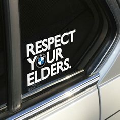 Bmw # Respect # Your #  Elders :)