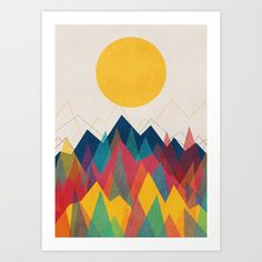 Buy Uphill Battle Art Print by budikwan. Worldwide shipping available at Society6.com. Just one of millions of high quality products available.