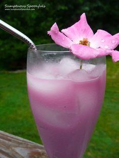 Mulberry Maple Rose Cream Sodas ~ Sumptuous Spoonfus #summer #drink #recipe