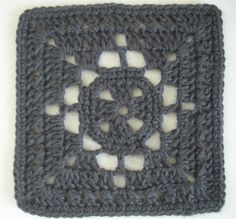 Diamond Windowpane Square: free pattern