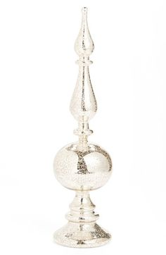K & K Interiors Mercury Glass Finial Tabletop Decoration available at #Nordstrom