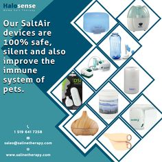 All our Salt Air devices effectively provide 100% safe and natural saline therapy that benefits the overall wellness by removing toxicity from the respiratory system, improving skin appearance and boosting the immune system as well. Our devices are completely safe for people of all age groups and also for pets.  #SaltAirDevice #SaltAirUVMini #Netipot #Aerobika #RockSalt #OmbraCompressorNebulizer #SafeForAll #IncreaseRespiratoryHealth #IncreasImmuneSystem #LeadHealthyLife #SalineTherapy Respiratory System, Immune System, Salt, How To Remove, Therapy, Wellness, Pets, Natural, People
