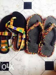 Image result for kente slippers