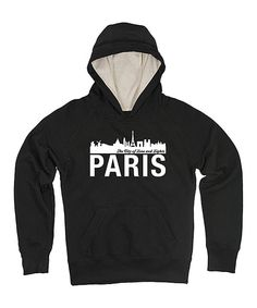 Look at this Black 'Paris' Skyline Hoodie - Girls on #zulily today!