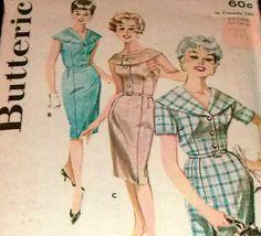 60s Sewing Pattern Dress One Piece UNCUT by sewprettypatterns, $14.00