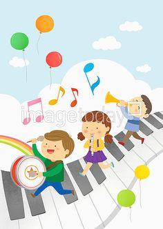 상세보기 - 이미지투데이 4 Kids, Art For Kids, Children, Boarder Designs, Mother Art, Music Party, Preschool Art, Free Illustrations, Diy And Crafts