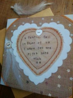 #ecocreatehour #greetingscard #angels #sympathy #hope #mixedmediaart