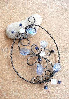 Wire Wrapped Jewelry, Wire Jewelry, Jewelry Art, Beaded Jewelry, Jewellery, Copper Wire Art, Wire Ornaments, Wire Hangers, Memory Wire Bracelets