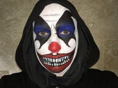 Halloween 2014 scary clown face paint tutorial time lapse make up