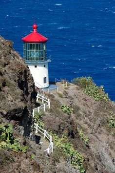 Makapu'u Lighthouse, Kaiwi State Scenic Shoreline, Oahu, Hawaii   first lit in 1909, on the National Register of Historic Places
