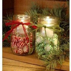 crafts How to make these 50 different mason jar Christmas crafts. 50 Amazing Mason Jar Christmas Crafts I love Pink Mason Jar Christmas Crafts, Easy Christmas Decorations, Christmas Centerpieces, Jar Crafts, Christmas Projects, Holiday Crafts, Christmas Lanterns, Christmas Ideas, Mason Jar Candle Holders