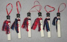clothespin ornies - kids