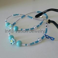 Unique eyeglasses necklace. Polymer and glass beads. $18+ shipping within US  To buy go to  Https://m.inselly.com/inna_vation_jewelry
