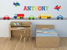 Truck Decal Name Decal  Construction Wall Decal by YendoPrint, $60.00