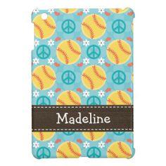 Peace Love Softball Case For The iPad Mini