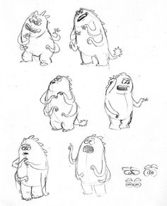 Pose exploration - Thaddeus Bile explains his scaring technique to Waternoose. || CHARACTER DESIGN REFERENCES | Find more at https://www.facebook.com/CharacterDesignReferences if you're looking for: #line #art #character #design #model #sheet #illustration #expressions #best #concept #animation #drawing #archive #library #reference #anatomy #traditional #draw #development #artist #pose #settei #gestures #how #to #tutorial #conceptart #modelsheet #cartoon #monster @Rachel Oberst Design…