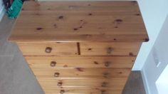 Tall Chest of Drawers with 7 drawers made of solid Knotty Pine wood. | Portishead, Bristol | Gumtree