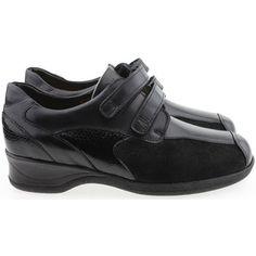 klassieke Xsensible dames veterschoenen dames sneakers (Zwart)
