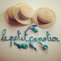 Le Petit Canotier en mot lainé... Réinvente les fêtes de vos enfants !