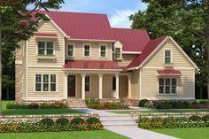 Farmhouse Style House Plan - 4 Beds 4.00 Baths 2760 Sq/Ft Plan #927-981
