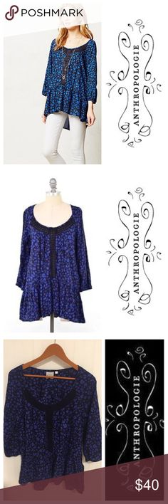 Anthropologie HD In Paris cobalt lace tunic top M Size medium. Worn once. In excellent condition. Hey my closet for more great clothing, shoes, and assessories. 15% off a bundle of three or more items. Anthropologie Tops Blouses