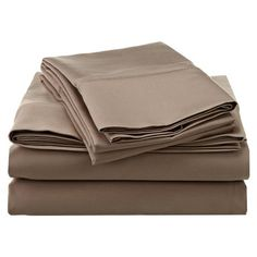 Darby Home Co Knight 1200 Thread Count Premium Long-Staple Combed Cotton Sheet Set Size: California King, Color: Taupe