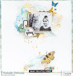 Living an Inspired Life: Be You Scrapbook Journal, Scrapbook Albums, Scrapbook Cards, Mixed Media Scrapbooking, Scrapbooking Layouts, Die Cut, Photo Layouts, Card Making Inspiration, Scrapbook Paper Crafts