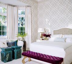 another gorgeous bedroom with turquoise and purple