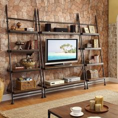 Leaning TV Stand by Riverside - Home Gallery Stores