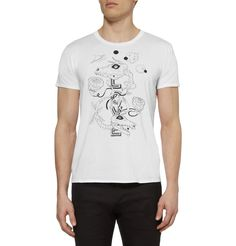 Saint Laurent Grimes Printed Cotton-Jersey T-Shirt | MR PORTER