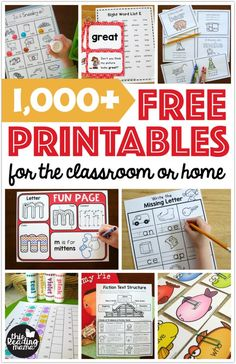 Thousands of Free Printables for the Classroom or Home ~ This Reading Mama