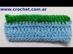 Punto Relieve por delante en tejido crochet tutorial paso a paso.
