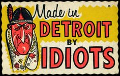 Vtg Impko Decal Sticker Post Card Novelty NOS Made In Detroit By Idiots