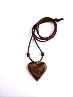 Wooden Pendant Wood Jewelry Wood Heart Pendant by GatewayAlpha, $17.95