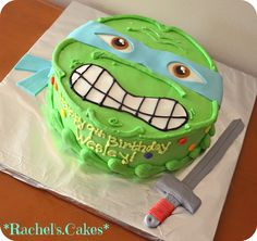 Leonardo -- Ninja turtle cake.. This will be for Jonah's bday