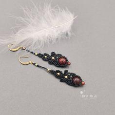 Jewelry OFF! Macrame Earrings, Macrame Jewelry, Gemstone Earrings, Crystal Earrings, Boho Jewelry, Jewelry Art, Dangle Earrings, Beaded Bracelets, Unique Earrings
