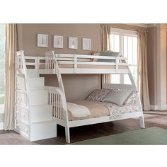 Canwood Ridgeline Twin over Full Bunk Bed with Built in Stairs Drawers, White: Kids' & Teen Rooms : Walmart.com $789