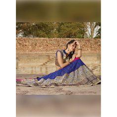 Net Royal Blue Lehenga Choli Dress Material - 67646