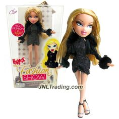 MGA Entertainment Bratz The Fashion Show Series 10 Inch Doll - CLOE in Black Neck Strap Dress and Black Faux Fur Jacket with Earring and Bracelet