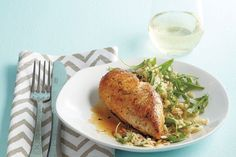 Cider chicken with brown-butter orzo