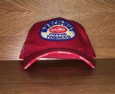Vintage 90's Beech-Nut Chewing Tobacco Adjustable Velcro Cap by TommysAtticTreasures on Etsy