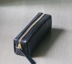 Black classy Leather Pencil Case/Pen Pouch by EarthyLeather, $36.00
