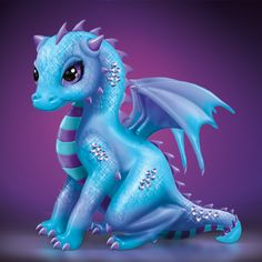 cute Amethyst Baby Dragon