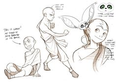 The Promise Sketches - Aang 02 Avatar Aang, Avatar Airbender, Avatar Legend Of Aang, Team Avatar, Legend Of Korra, Art Reference Poses, Drawing Reference, Tattoo Geek, Cartoon Body